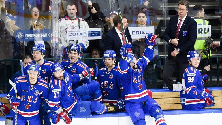 Хоккеистам СКА осталось одержать одну победу, чтобы завоевать Кубок Гагарина. Фото photo.khl.ru