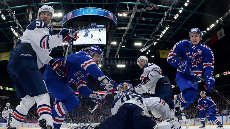 СКА осталось выиграть один матч, чтобы стать обладателем Кубка Гагарина. Фото photo.khl.ru