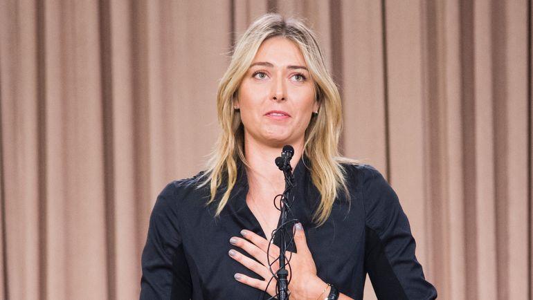7 марта 2016 года. Лос-Анджелес. Мария ШАРАПОВА на пресс-конференции объявляет о положительной допинг-пробе. Фото AFP