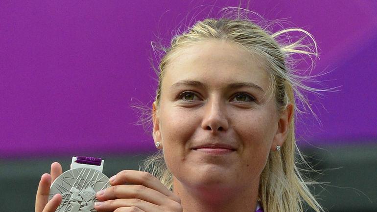 4 августа 2012 года. Лондон. Мария ШАРАПОВА с серебром Олимпиады. Фото REUTERS