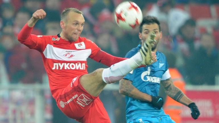 Денис Глушаков: Мне вообще показалось, что мяч попал Комбарову в лоб!