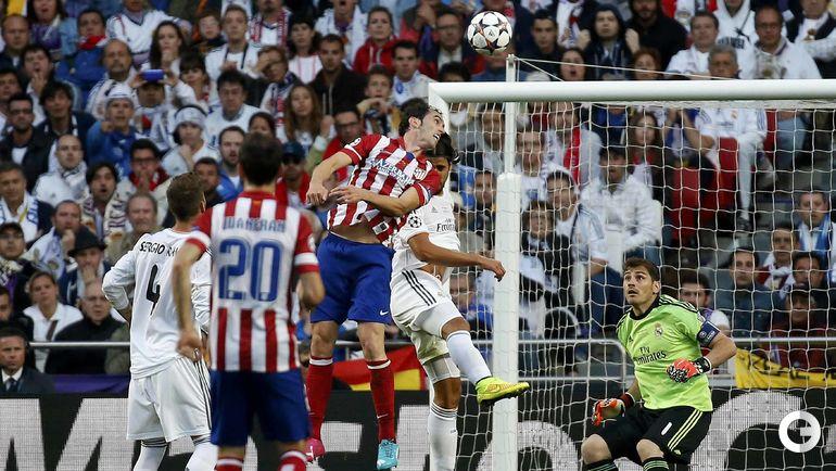 """24 мая 2014 года. Лиссабон. """"Реал"""" - """"Атлетико"""" - 4:1 д.в. 36-я минута. Диего ГОДИН (в центре) открывает счет. Фото REUTERS"""