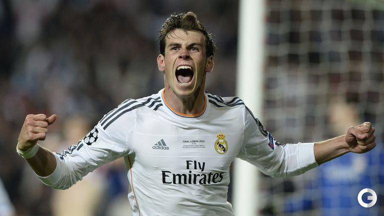 """24 мая 2014 года. Лиссабон. """"Реал"""" - """"Атлетико"""" - 4:1 д.в. Гарет БЭЙЛ празднует гол. Фото AFP"""