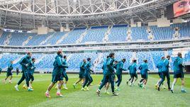 "Четверг. Санкт-Петербург. Тренировка ""Зенита"" на новом стадионе."