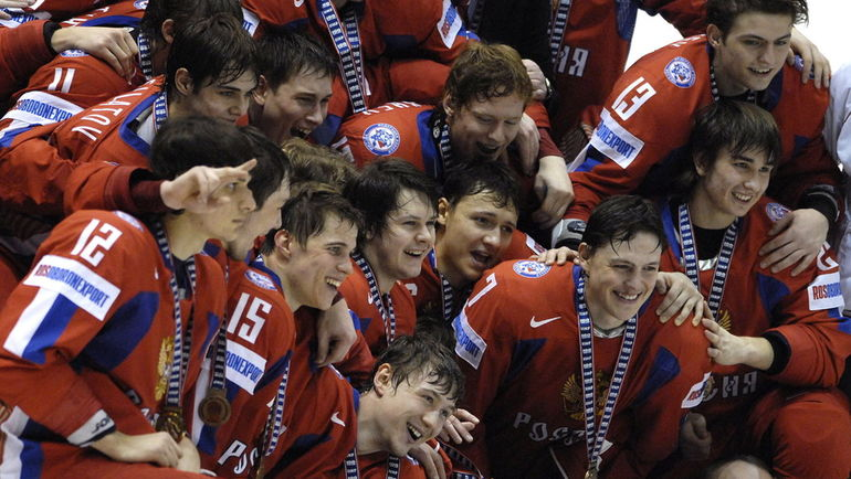 5 января 2008 года. Пардубице. Россия - США - 6:5. Последняя на данный момент победа россиян на ЮЧМ. Фото AFP