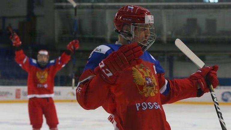 Сегодня. Спишска Нова Вес. Россия - Швеция - 3:0. Россияне завоевали первые медали ЮЧМ с 2011 года. Фото ФХР