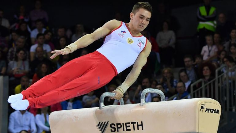 Давид БЕЛЯВСКИЙ стал лучшим в упражнениях на коне на чемпионате Европы в Клуже. Фото AFP