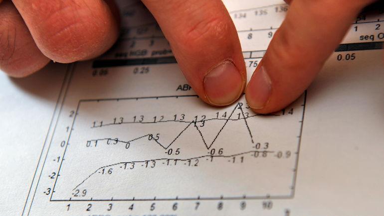 Пример данных биологического паспорта. Фото AFP