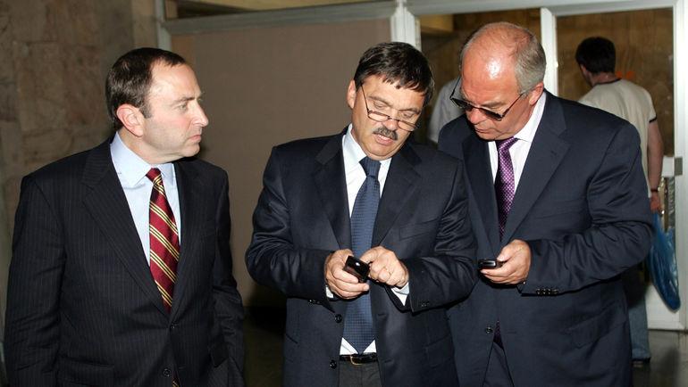 Гэри БЭТТМЕН, Рене ФАЗЕЛЬ и Александр СТЕБЛИН (слева направо). Фото Григорий ФИЛИППОВ