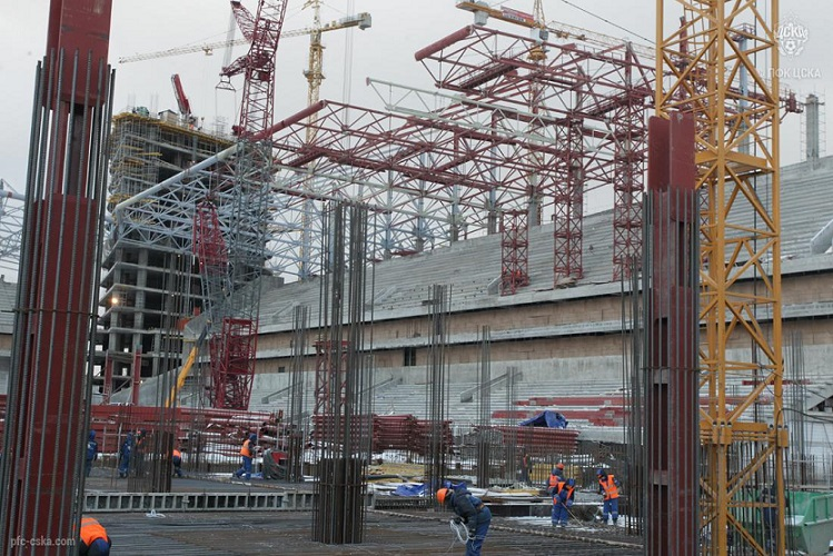 Строительство юго-восточного здания стадиона ЦСКА завершено
