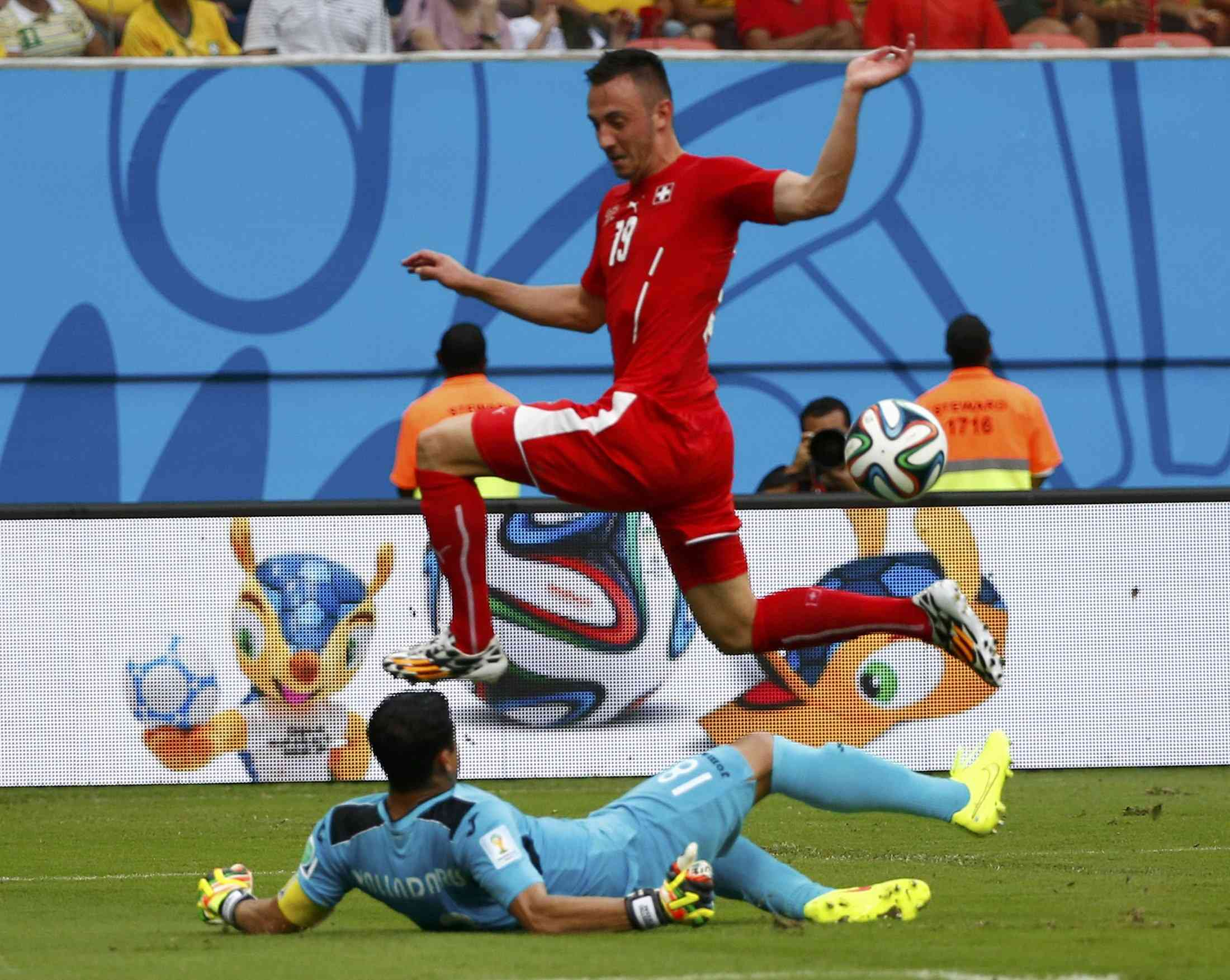 Швейцария разгромила Гондурас и вышла в 1/8 финала чемпионата мира