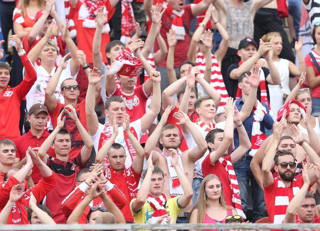 Пермь красно-белая.  Как поддерживали «Спартак» в матче с «Уфой»