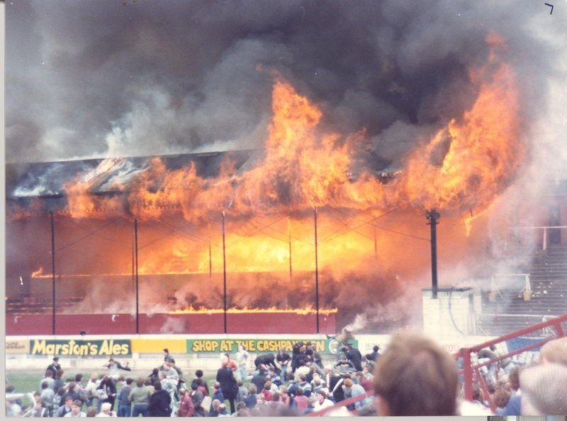 11 мая 1985 года. Брэдфорд. Неосторожное обращение с огнем вызвало пожар на стадионе