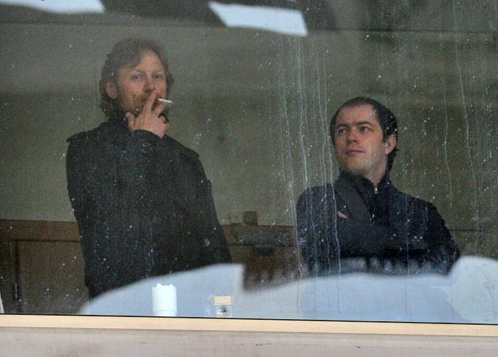 Валерий Карпин и Роман Асхабадзе