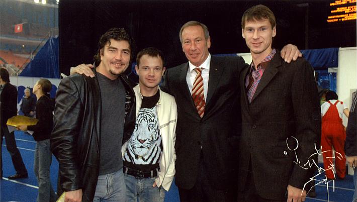 Николай Писарев, Дмитрий Парфенов, Шамиль Тарпищев и Егор Титов