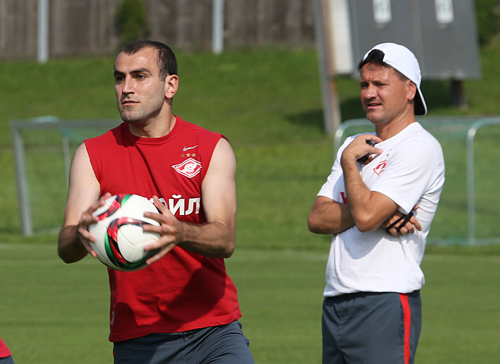Юра Мовсисян и Дмитрий Аленичев