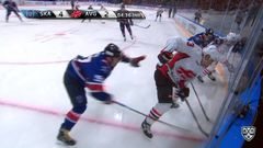 Удаление. Кетов Евгений (СКА) удален на 2 минуты за атаку игрока, не владеющего шайбой