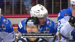 Гол. 0:1. Пушкарёв Константин (Барыс) открывает счет матча