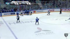 Удаление. Панюков Кирилл (Барыс) за атаку игрока не владеющего шайбой.