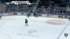 Удаление. Казионов Денис (Металлург Мг) за атаку игрока не владеющего шайбой.