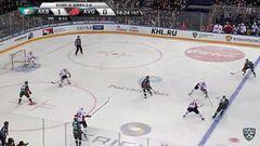 Гол. 2:0. Попов Андрей (Ак Барс) переправил шайбу в ворота