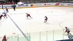 Удаление. Андронов Сергей (ЦСКА) удален на 2 минуты за атаку игрока, не владеющего шайбой