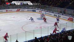 Удаление. Николай Прохоркин (СКА) получил 2 минуты за атаку игрока, не владеющего шайбой