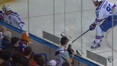 удаление. Илья Каблуков (СКА) удалён на 2 минуты за атаку игрока, не владеющего шайбой