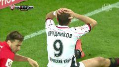 Спартак (Москва) - Амкар, Прудников, Опасный момент