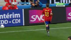 Испания - Чехия, Удар. Мората
