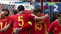 Испания - Чехия, Гол, 1-0, Пике