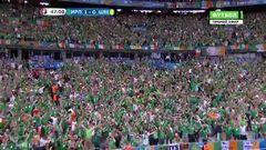 Ирландия - Швеция, Гол, 1-0, Хулахан
