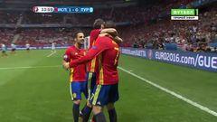 Испания - Турция, Гол, 1-0, Мората