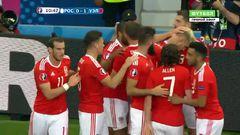 Россия - Уэльс, Гол, 0-1, Рэмси