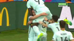 Венгрия - Бельгия, Гол, 0-1, Алдервейрелд