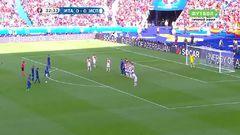Италия - Испания, Гол, 1-0, Кьеллини