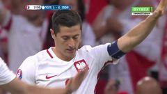 Польша - Португалия, Гол, 1-0, Левандовски