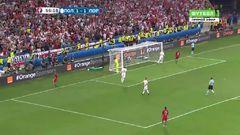 Польша - Португалия, Опасный момент, Роналду