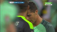 Португалия - Уэльс, Опасный момент, Роналду