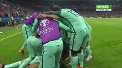Португалия - Уэльс, Гол, 1-0, Роналду