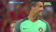 Португалия - Уэльс, Удар, Роналду