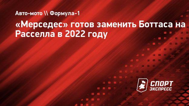 «Мерседес» готов заменить Боттаса наРасселла в2022 году