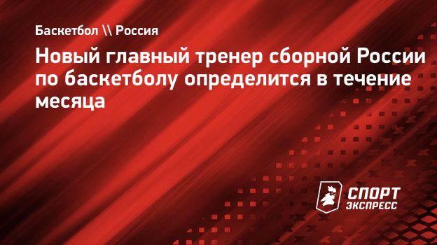 Новый главный тренер сборной России побаскетболу определится втечение месяца