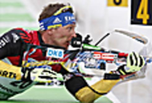 Андреас Бирнбахер. Индивидуальная гонка 20 км. Чемпионат мира 2012. Рупольдинг (Германия) Фото REUTERS
