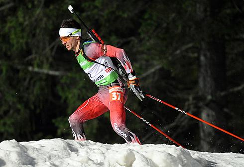 Жан-Филипп Легеллек. Спринт 10км. Ванкувер - 2010. 14 февраля 2010г. Фото AFP.