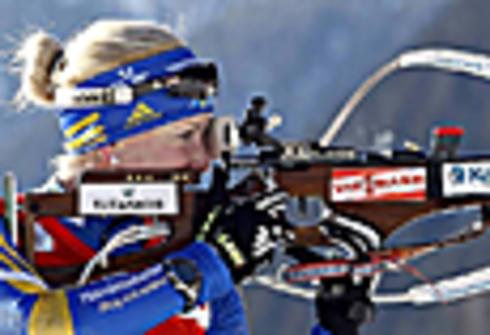 22 января 2011 года. Этап Кубка мира в Антерсельве (Италия). Эстафета 4х6 км. Фото REUTERS