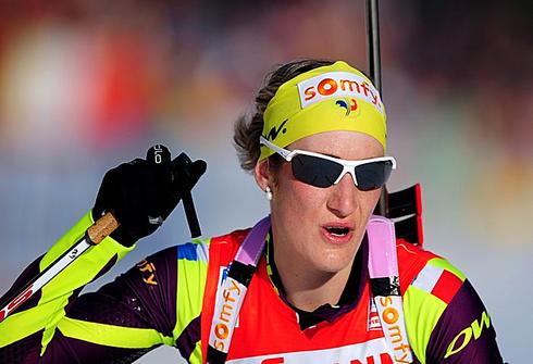 7 марта 2012 года. Чемпионат мира в Рупольдинге (Германия). Индивидуальная гонка 15 км. Фото AFP