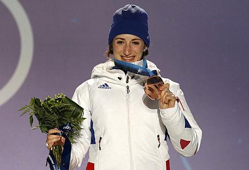 16 февраля 2012 года. Уистлер. Мари-Лор Брюне - бронзовая медалистка зимних Олимпийских игр. Фото REUTERS