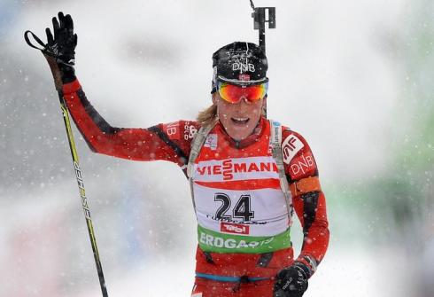 17 декабря 2012 г. Кубок мира в Хохфильцене (Австрия). Гонка преследования 10 км. Фото AFP