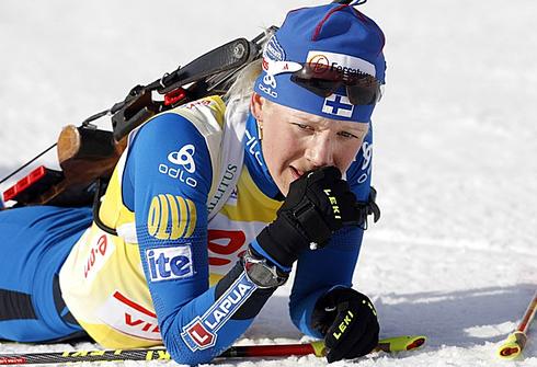 20 марта 2011 года. Этап Кубка мира в Осло. Масс-старт 12,5 км. Фото AFP